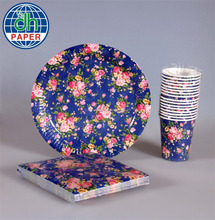 disposable paper plate,napkin,cup, wholesale kids birthday party supplies