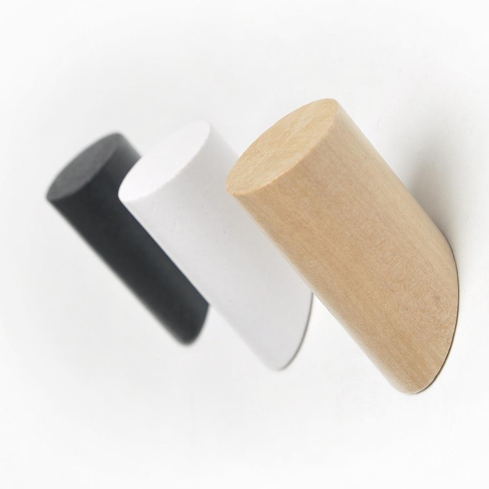 800229 טבעי מוצק עץ מעיל ווי קיר רכוב Creative בציר אחת ארגונית קולבים בעבודת יד מלאכת כובע מתלה