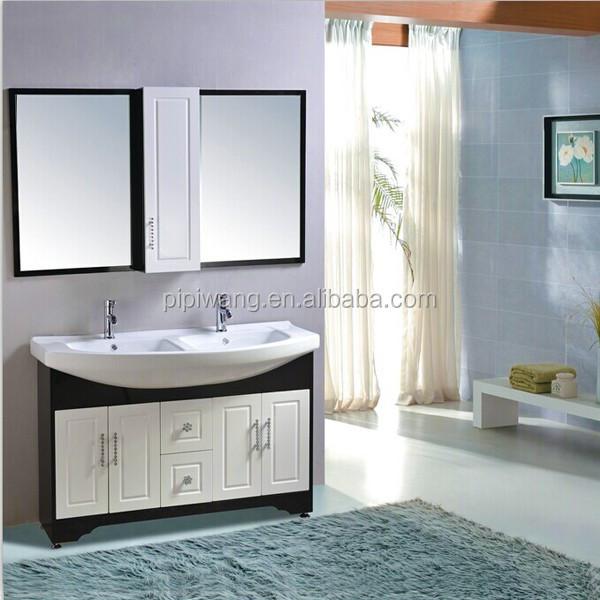 pvc armoire de toilette double vier salle de bains vanity arabie saoudite conception meubles - Ensemble Vanite Armoire