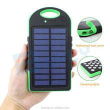 2017 Trend products useful 8000mah Solar power bank universal portable charger extra external battery for mobile phones