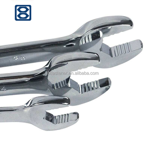 China manufacturer customized open end wrench with stamped