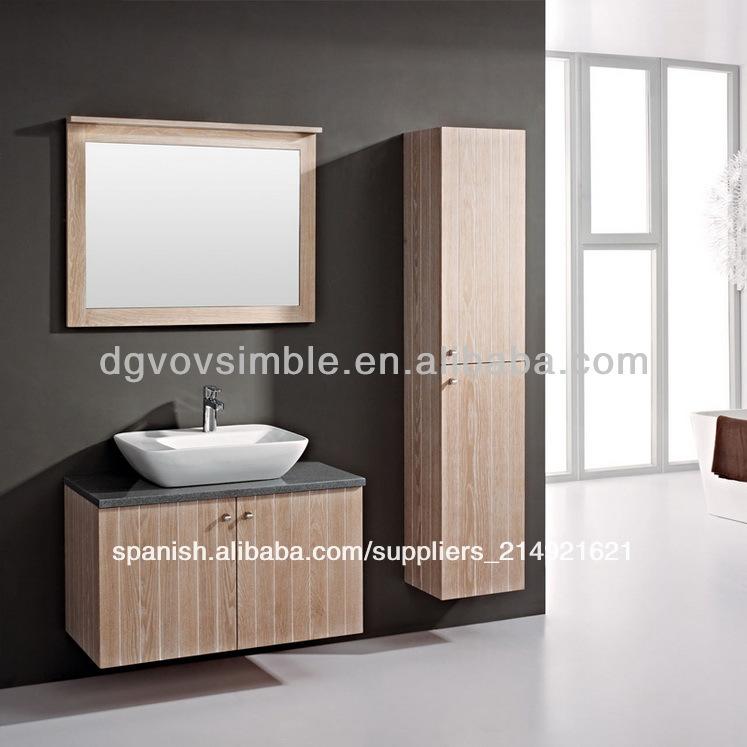 De lujo de madera de roble cuarto de ba o moderno gabinete for Gabinete de almacenamiento de bano de madera
