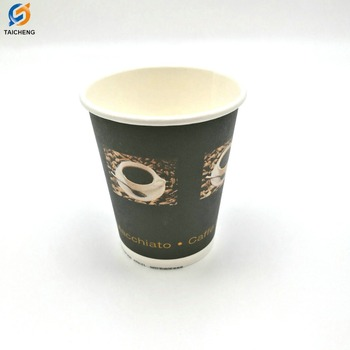 Bulk Disposable Hot Drink Paper Coffee Cup Designed