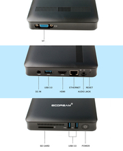 Fanless WIN10 MINI PC Desktop with Intel Apollo Lake N3450 Dual Band WIFI