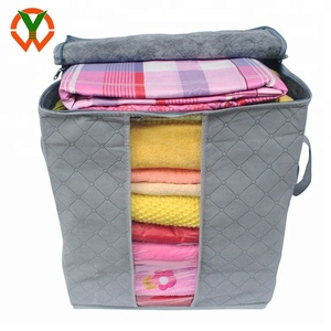 Bamboo Charcoal Storage Box Folding Sweater Clothes Blanket Closet Organizer Bag