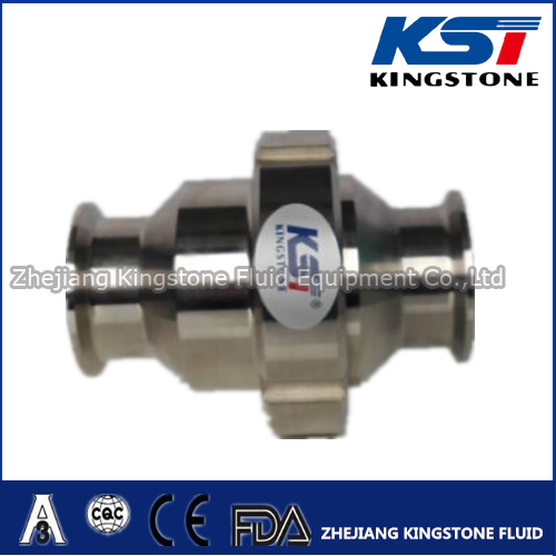 Middle union type check valve for food grade useing