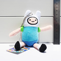 5pcs Adventure Time Finn Plush Keychains Pendant Stuffed Doll Toys With Tag 6 15cm Free Shipping