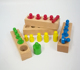 Goodkids Montessori Sesorial Mini Colored Knobbed Cylinders Wooden Educational Toys