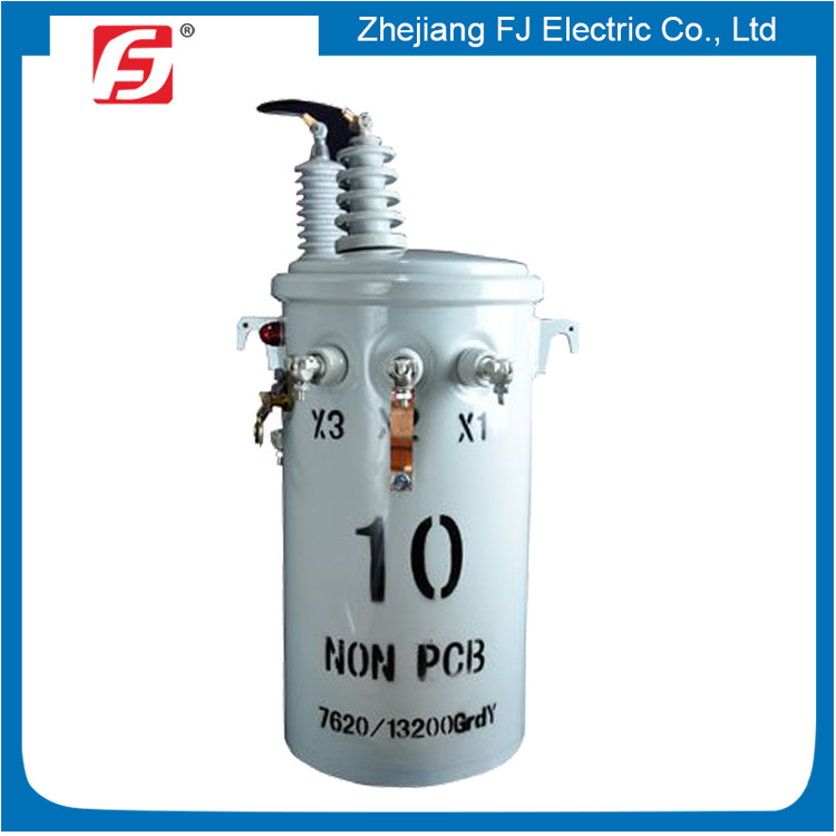 Philippine Customer Ordered Round Shape Single Phase Step Down Power Transformer 10KVA