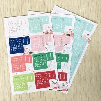 Diy Custom Calendar Paper Sticker For Scrapbook Calendar Diary