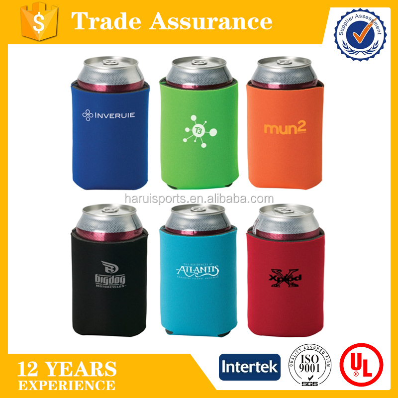 neoprene pocket coolie/ neoprene collapsible/folding beer can cooler