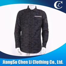 wholesale fashion 100% cotton Camouflage shirt for men
