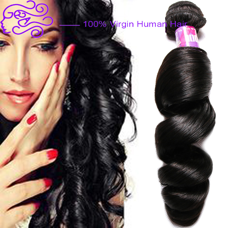 Cheap Natural Raw 100% indian human hair Loose Wave Unprocessed wholesale curly weave hair