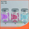 High output 16oz glass ball jar with metal lid and different color designs