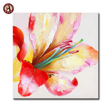 flowers canvas artwork acrylic textured abstract paintings