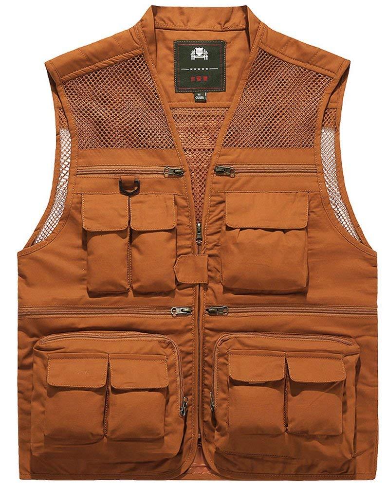 Outdoor Men Multi-Pocket Fly Fishing Hunting Mesh Vest Photography Travel Jacket