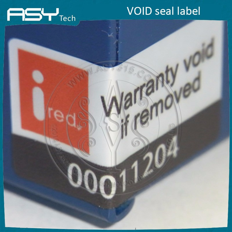 Fast delivery warranty sticker VOID if tampered