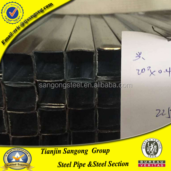 pre galvanized steel pipe, 80x 80 galvanized square steel pipe,hollow steel section q195