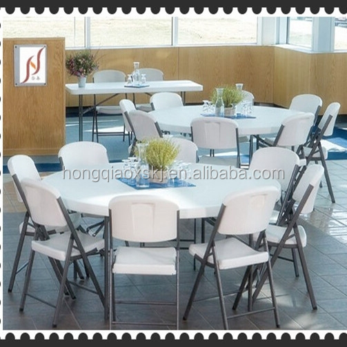Cheap Round Tables For Sale: 6' Plastic Round Folding Tables Wohlesale,Used Round