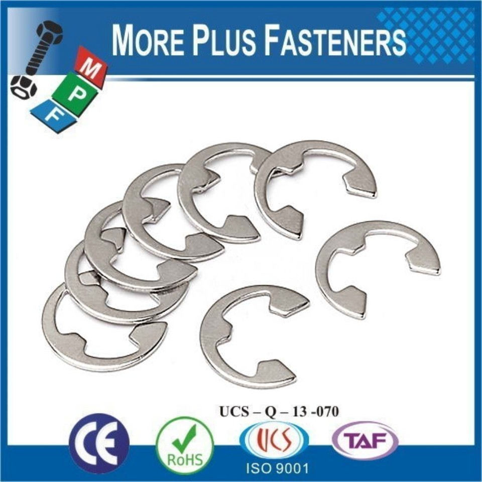 Made In Taiwan Retainer E Clips Black Phosphate Spring Steel Metric Stainless Steel