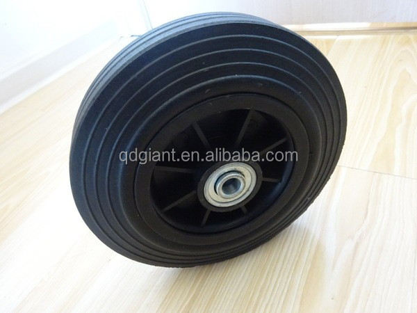 8inch solid rubber wheel for ash container and waste bin