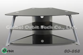 Moderno In Vetro Angolo Mensola Porta Tv Design - Buy Product on ...
