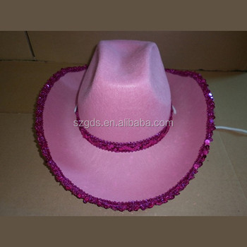 d52d823c4939d Wholesale price 54-58cm pink cowgirl yellow cowboy hat adult and children  size custom printed