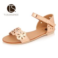 2015 estilo del verano nueva flor de la vendimia Romana kids niños  sandalias confort casual zapatos