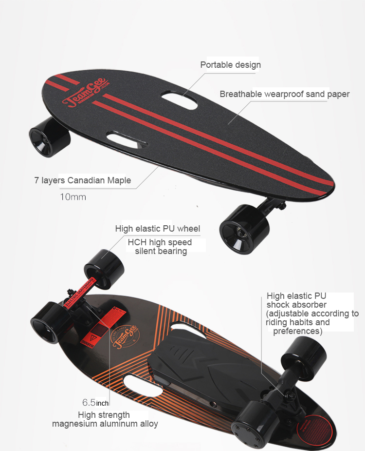 Best selling 25km/h longboard sports electronic electric skateboard