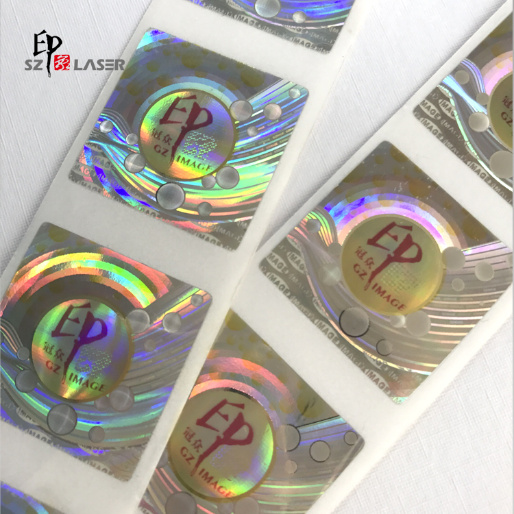 Custom adhesive security hologram labels for electronic devices
