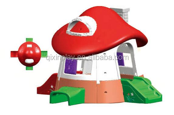 nios plstico mushroom casa de juego nios jardn de setas playhouse para