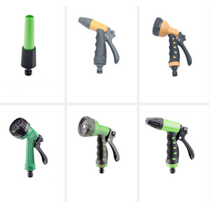 car wash equipment expandable hose flexible metal water mist spray gun brass garden hose nozzle for pipe cleaning