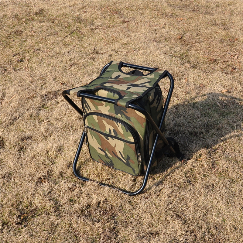Multi function outdoor camping chair backpack hiking trekking travelling picnic Cutlery bag with chair