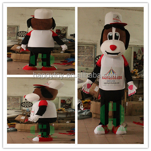 Advertising brown puppy costume adult proffessional custom mascot costume,funny cartoon mascot costume