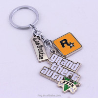 Fashion GTA 5 Games Grand Theft Auto V Logo Keychain Gift for Fans