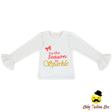 Western Spring Children White Bell Bottom Sleeve English Print Baby Girl Clothing Top Shirt