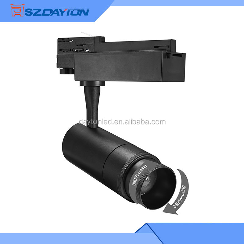 COB LED Track Light Spot 15W 20W 35W 30W Clothing Store Adjustable Focus Spotlights Commercial Lighting