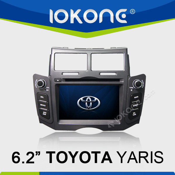 Special 7 inch double din car dvd with gps radio tv bluetooth for Toyota Yaris