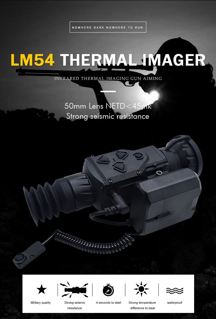 LMIR Infrared affordable thermal imaging scope for hunting