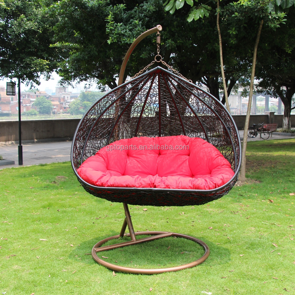 patio swings chair garden swing rattan wholesale double swing chair