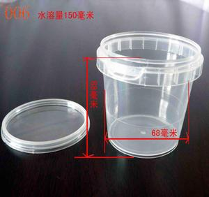 Hot sale small MINI volume pail yogurt packing plastic bucket at 150ML