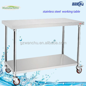 Movable Stainless Steel Work Table With Wheels