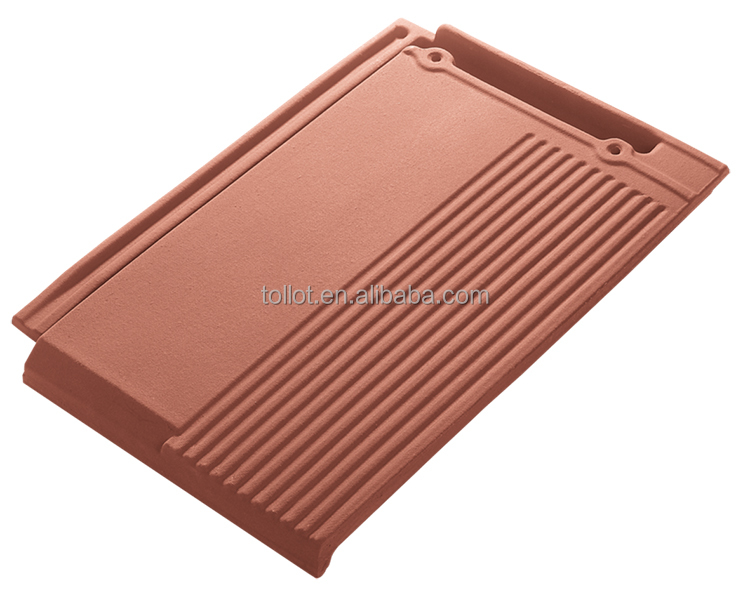Chinese Popular Construction Material Terracotta Flat Roof Tile 410*275 for Villas Top