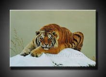 100% Handmade Tiger Animal Oil Painting