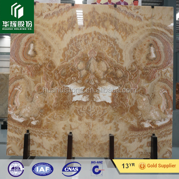 Luxury office orange onyx big slab for decoration materials