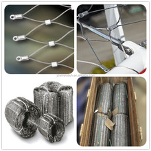 Factory Supply 306 SS wire mesh rope / bird netting / hand woven flexible stainless steel