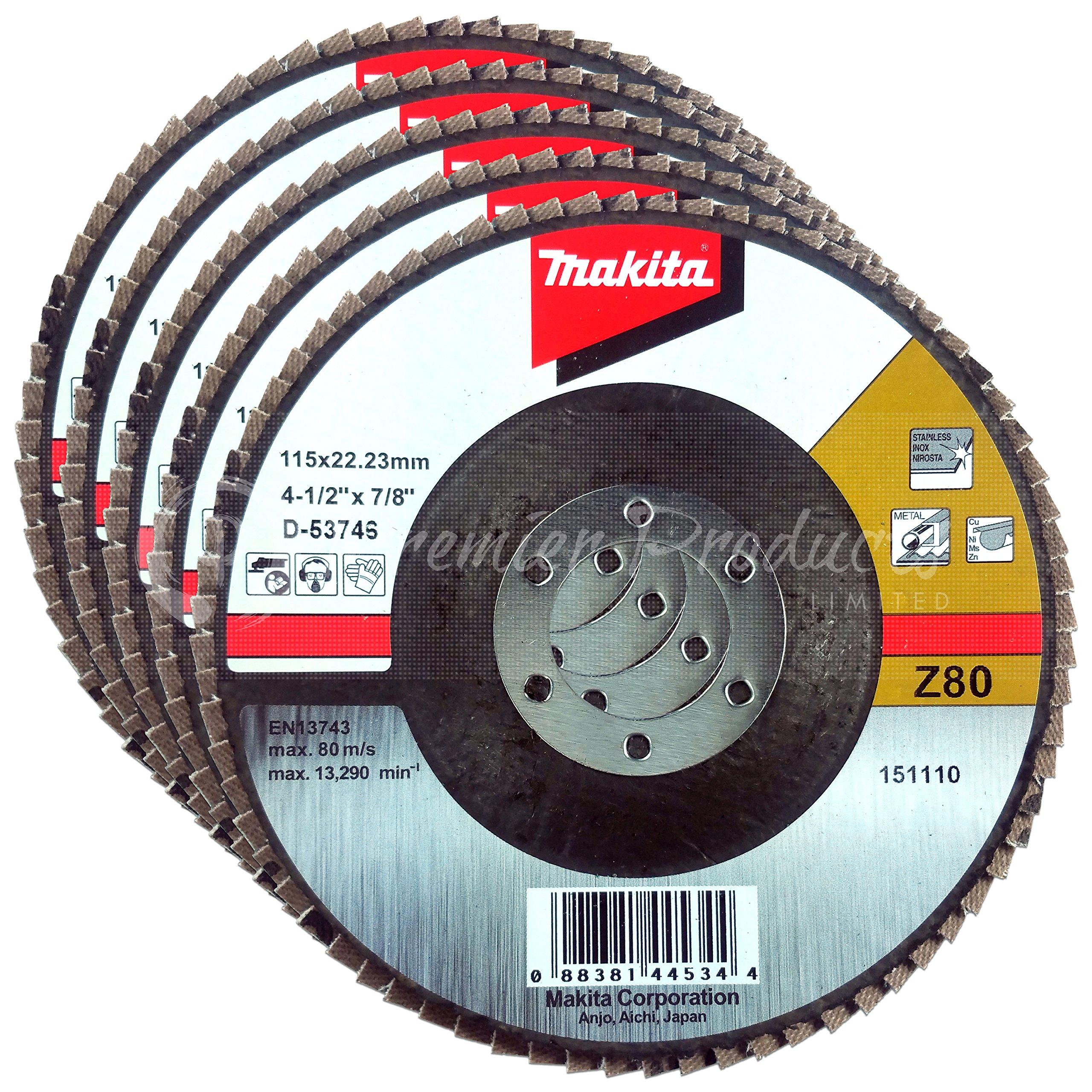 Makita 741828-B-10 4.5-Inch Multi Disc #80 10-Pack