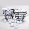 CRESTGOLF Metal Golf Basket Golf ball Container Golf Accessories Black can store 50pcs golf balls