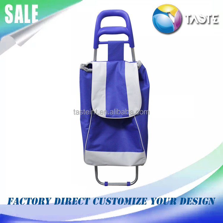China supplier 2017 hot seller foldable big wheel super market shopping cart trolley bags