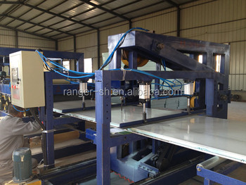 Chinese Color Steel Eps Rock Wool Sandwich Panel Production Line ...